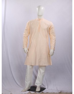 Regular Fit Cotton Peach Kurta Pyjama - KE9813 - ECK02