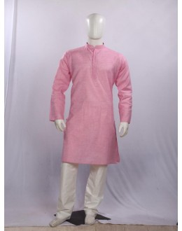 Regular Fit Cotton Pink Kurta Pyjama - KM9133 - ECK02