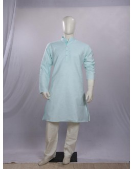 Regular Fit Cotton Sea Green Kurta Pyjama - KM9121 - ECK02