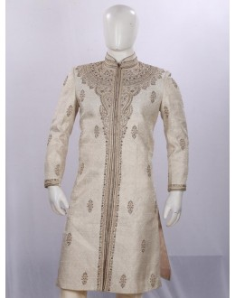 Wedding Wear Beige Sherwani - SI3888 - ECS06