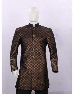 Wedding Wear Black Sherwani - H3218 - ECS06