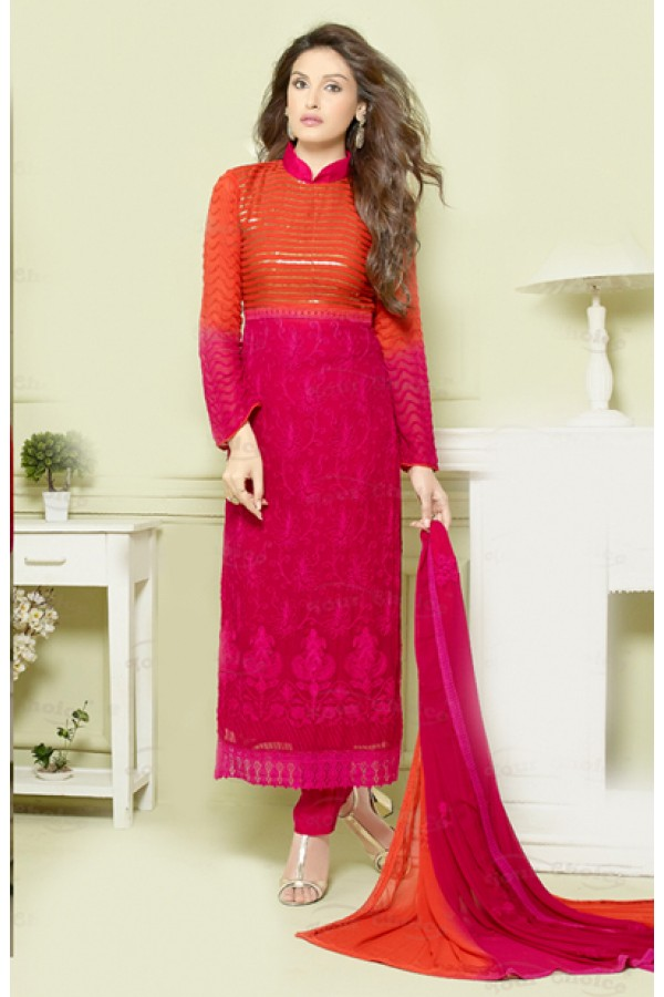Casual Wear Pink Salwar Suit - FA373-2144