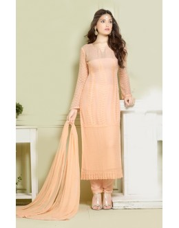 Party Wear Beige Chiffon Salwar Suit - FA373-2149