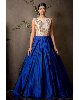 Party Wear Blue Anarkali Gown - FA374-16
