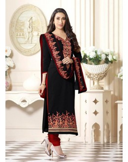 Party Wear Black Cotton Salwar Suit - FA375-4011