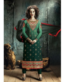 Party Wear Green Georgette Salwar Suit - FA380-203