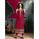 Party Wear Maroon Georgette Salwar Suit - FA380-205
