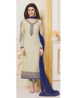 Party Wear Off White Georgette Salwar Suit - FA381-3301