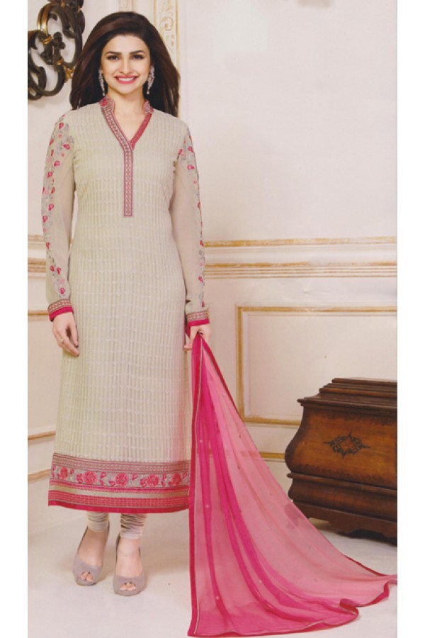 Party Wear Off White Georgette Salwar Suit - FA381-3303