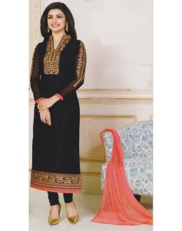 Party Wear Black Georgette Salwar Suit - FA381-3304