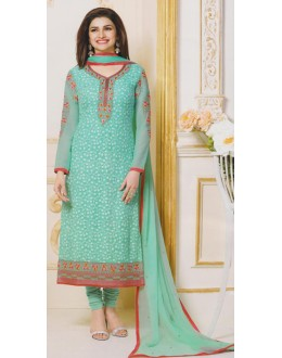 Party Wear Green Georgette Salwar Suit - FA381-3307