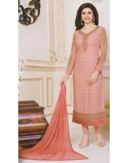 Party Wear Peach Georgette Salwar Suit - FA381-3309