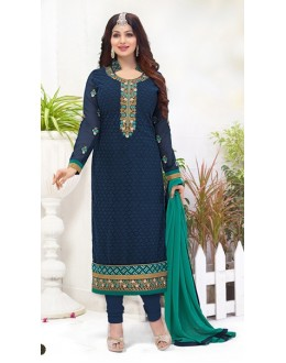Party Wear Blue Georgette Salwar Suit - FA382-12201