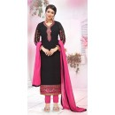 Party Wear Black Georgette Salwar Suit - FA382-12206