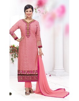 Party Wear Pink Georgette Salwar Suit - FA382-12207