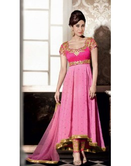 Party Wear Pink Georgette Anarkali Suit - FA383-5001