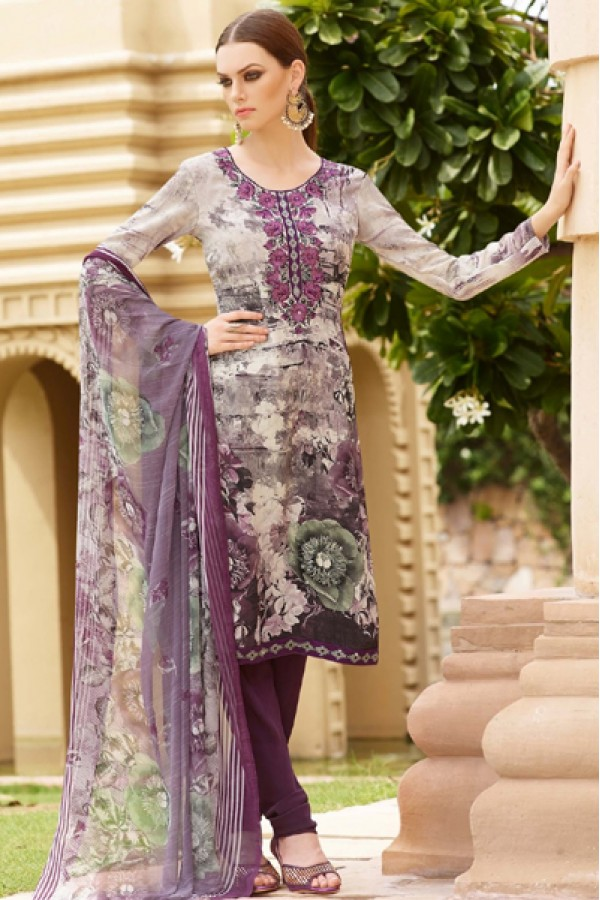 Festival Wear Purple Crepe Salwar Suit  - FA395-7001