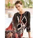 Casual Wear Black & Orange Crepe Salwar Suit  - FA395-7003