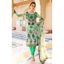 Office Wear Cream & Green Crepe Salwar Suit  - FA395-7007