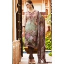Office Wear Brown Crepe Churidar Suit  - FA395-7009