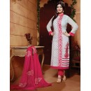 Ayesha Takia In White & Pink Cotton Salwar Suit  - FA396-02