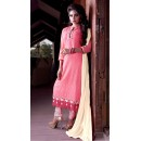 Office Wear Light Pink Georgette Churidar Suit  - FA409-25007