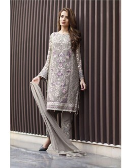 Office Wear Grey Georgette Salwar Suit  - FA411-07