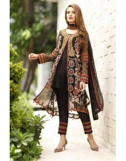 Ethnic Wear Black Georgette Salwar Suit  - FA411-11