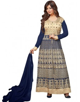Ayesha Takiya In Blue Georgette Anarkali Suit  - FA420-20273