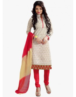 Party Wear Off White Salwar Suit - FD170-177