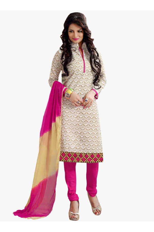 Party Wear Off White Salwar Suit - FD170-178