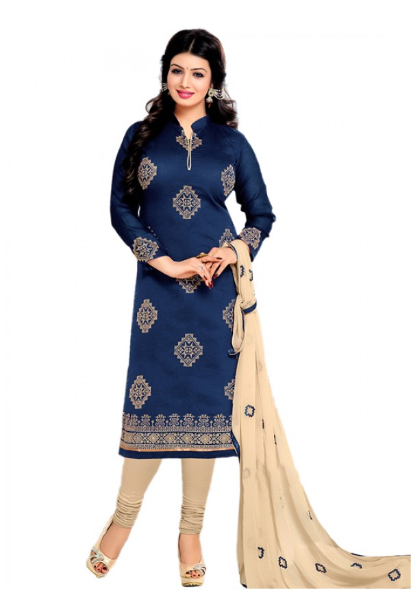 Casual Wear Blue Salwar Suit - FD170-183