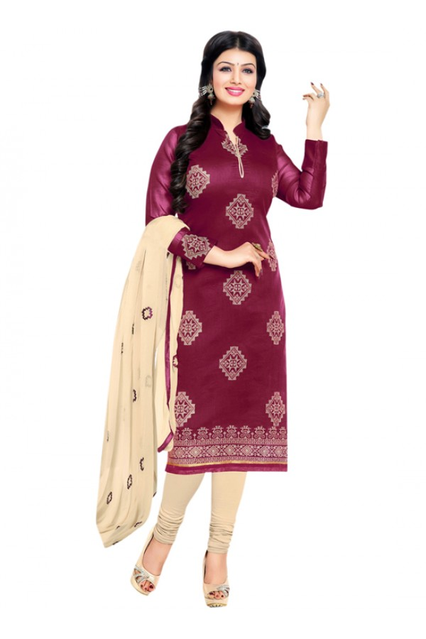 Casual Wear Maroon Salwar Suit - FD170-184