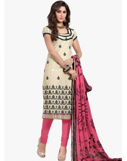 Casual Wear Off White Salwar Suit - FD170-189