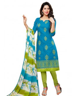 Casual Wear Sky Blue Salwar Suit - FD170-190