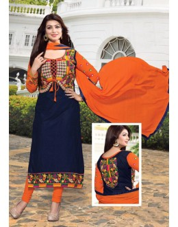 Party Wear Blue & Orange Salwar Suit - FD167-03