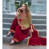 Party Wear Green & Maroon Patiyala Suit - FD168-1506