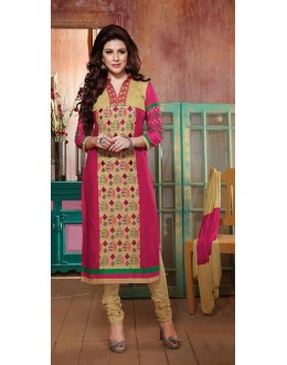 Party Wear Pink & Cream Salwar Suit - FD169-01