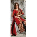 Party Wear Red & Black Salwar Suit - FD169-02