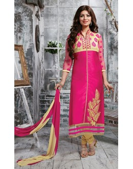 Party Wear Pink & Cream Salwar Suit - FD169-04