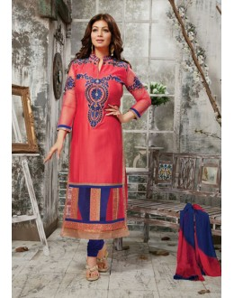 Party Wear Blue & Pink Salwar Suit - FD169-14