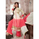 Party Wear Off White & Pink Palazzo Suit - FD169-29