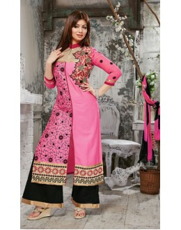 Party Wear Black & Pink Palazzo Suit - FD169-32