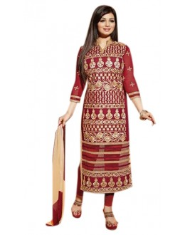 Party Wear Maroon & Cream Salwar Suit - FD169-39