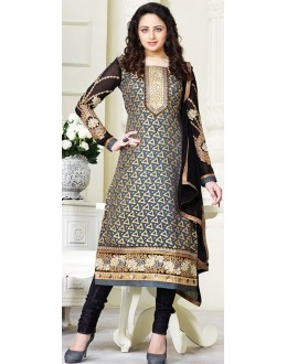 Exclusive New Designer Unstitched Black And Gold Gorgeous Salwar Suits-FA247-3002(FFH-FA247)