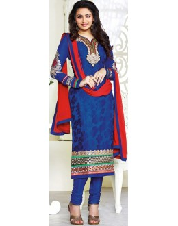 Exclusive New Designer Unstitched Blue Gorgeous Churidar Suits-FA247-3007(FFH-FA247)