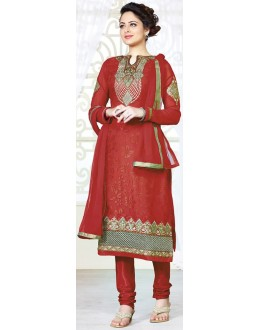 Exclusive New Designer Unstitched Maroon Gorgeous Churidar Suits-FA247-3008(FFH-FA247)