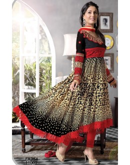 Exclusive Black And Cream Embroidery Designer Salwar Suit-FA254-11002(FFH-FA254)