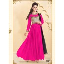 Designer Pink Net Western Embroidered Party Wear Gown-FA260-1008 ( FFH-FA260 )