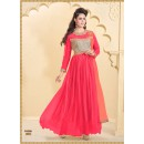 Designer Red Net Western Embroidered Party Wear Gown-FA260-1002 ( FFH-FA260 )